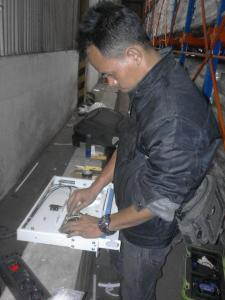 Setting and Installation Fiber Optic in Industrial Area